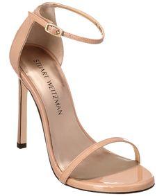 STUART WEITZMAN STUART WEITZMAN NUDIST PATENT SANDAL'. #stuartweitzman #shoes #sandals