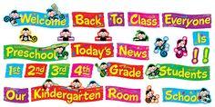 Monkey Mischief Welcome Phrases Mini Bulletin Board Set (T-8749) #classroom #decor #AILtyler