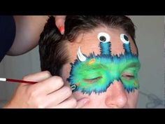 Cute furry monster mask that's easy and great for both boys and girls.