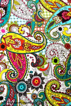 Fabric Wall Canvas Paisley Print /Colorful /Picture Art /Fun & Funky /Gift Ideas Under 20, 25, 30 /Spring Sale. $14.99, via Etsy.