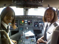 Camille DeJorna via Facebook - an all black women flight crew. They are Captain Rachelle Jones and First Officer Stephanie Grant (Delta).
