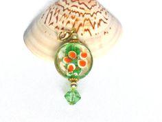 Wechsel Anhänger grün gold Ketten Anhänger mit von JewelsbyLonasART