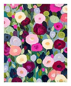Night Garden Carrie Schmitt Flower Floral Still Poppies Print Poster 16x20