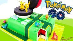 Pokemon Go Cake! Pikachu cake with a surprise pokeball cake inside! Pokemon Go Cake! Pikachu cake with a surprise pokeball cake inside! Pokemon Cupcakes, Pokemon Torte, Pokemon Birthday Cake, Birthday Fun, Birthday Cakes, Birthday Snacks, Birthday Ideas, Pokemon Go Tricks, Make A Pokemon