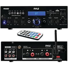 Pyle Bluetooth Stereo Amplifier Receiver [Compact Home Theater Digital Audio System] with Wireless Streaming   FM Radio   MP3/USB/SD Readers   Remote Control   200 Watt (PDA6BU) //Price: $75.99 & FREE Shipping //     #hashtag4
