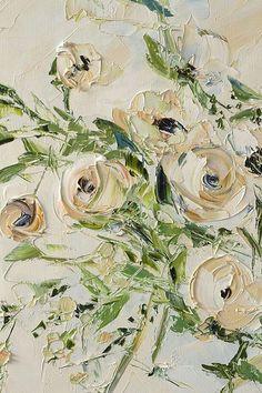Tea Rose Room Décor Original Oil Painting Canvas Flowers Roses #OilPaintingFlowers