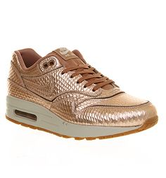 On my wishlist: Nike Air Max 1 Metallic Bronze Cutout Premium sneakers