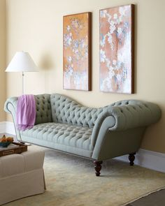 """""""Noemi"""" Sofa by Old Hickory Tannery at Horchow."""