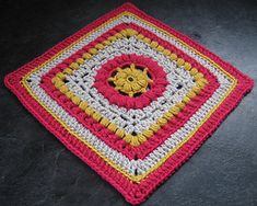 "The 12"" version of Dalliance; a great little afghan block"