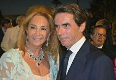 Maika Pérez de Cobas y José Maria Aznar
