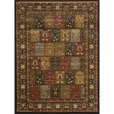 Home Dynamix Royalty Black 7 ft. 8 in. x 10 ft. 4 in. Indoor Area Rug-1-41200B-450 - The Home Depot