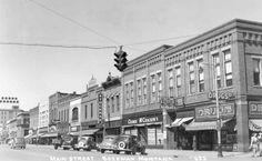 Downtown Bozeman, Montana 1940's.