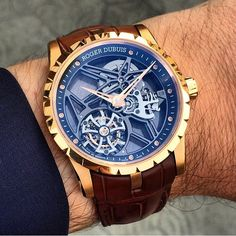 Roger Dubuis gold Tourbillon skeleton