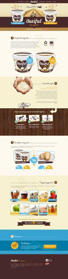 Be inspired by Oatiful Porridge Pots #typography #uidesign #websitedesign #designinspiration