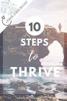 10 steps to thrive   10 action steps to move you from surviving to thriving with a FREE checklist   Personal Development   Self Help   How to change your life   How to get unstuck