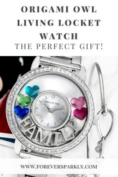 Origami Owl Watch | Origami Owl Living Locket Watch | Give the perfect gift with an Origami Owl Living Locket Watch Click to read and email mailto:kristy@foreversparkly.com for a free gift!