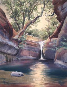 Acuarela, watercolor, paisaje Landscapes, Watercolor, Portrait, Places, Illustration, Nature, Travel, Artists, Watercolor Art