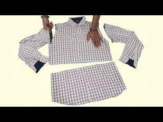 Is Video me old Shirt me se Beautiful and Designer baby Frock Cutting and Stitching Full Tutorial Bataya gaya he. Old Shirts, Baby Design, Frocks, Stitch, Youtube, Handmade, Diy, Ideas, Fashion
