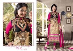 Latest Style Multi Colour Georgette Designer Dress Material