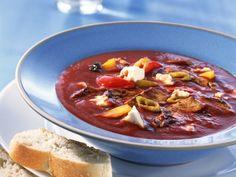 Gyros-Tomatensuppe mit Feta |