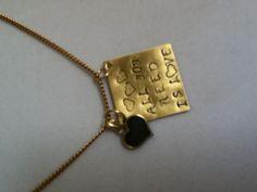 Metal stamped pendant