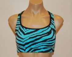 Turquoise Zebra :: Sports Bra :: Spandex Sports Bras and Athletic Wear for Volleyball, Soccer, Field Hockey, Lacrosse, Running and all sports from #bskinz