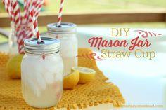 diy mason jar cups with straw