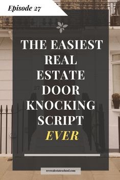 The Easiest Real Estate Door Knocking Script Ever with Handouts Real estate age. - The Easiest Real Estate Door Knocking Script Ever with Handouts Real estate agent marketing idea for REALTORs that want to build relationships through door knocking - Real Estate School, Real Estate Career, Real Estate Leads, Real Estate Business, Real Estate Tips, Real Estate Investing, Real Estate Marketing, Real Estate Courses, Handout