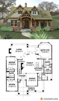 Plan 16812WG Rustic Look with Detached Garage Layouts Change and