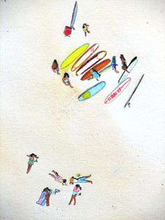 {Surf life.} Wish I knew who the artist was...