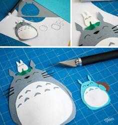 papercut totoro etape 2