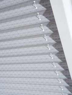 Perfect Fit Pleated Blind shown here is one of our best selling fabrics Madrid SPC in Chrome