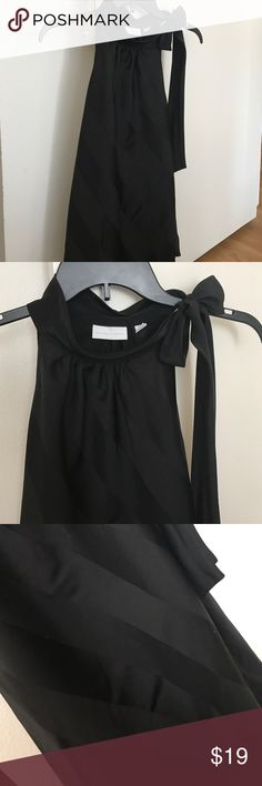 New York & Company Classy Black Halter Top Beautiful New York & Company shirt worn a few times. Super classy style. Size small (4-6) women's. New York & Company Tops