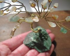 Windswept Wire Bonsai Tree / Driftwood Art / Wire by ForestofEva