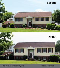 Rempfer Construction, Inc. - Siding, Shutters - Before & After Shutters, Garage Doors, Shed, Construction, Outdoor Structures, Outdoor Decor, Home Decor, House Blinds, Building