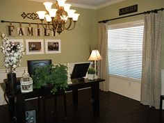 Dining rooms on pinterest for Dining room into office
