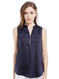 Blooming Jelly Women's V Neck Sleeveless Zip Front Shirt Blouse Top With Pocket (Blue, Large)  Special Offer: $14.99  111 Reviews #Welcome: Welcome to Blooming Jelly fashion store. We hope that you can find your own style here. Please feel free to contact us if any problem about...