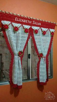 Crochet Curtain Pattern, Crochet Bedspread, Crochet Curtains, Crochet Flower Patterns, Crochet Flowers, Crochet Diy, Crochet Home, Filet Crochet, Crochet Doilies