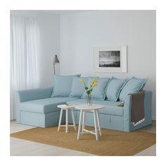 HOLMSUND Sofa narożna rozkładana - Orrsta jasnoniebieski - IKEA