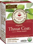 """Throat Coat® My favorite secret """"miracle"""" tea. Heals sore throat, hoarseness, singers throat, etc asap....I gave this to my dad when he was going through radiation for throat cancer....doctors were amazed at how quickly his throat tissues healed....they were convinced he would be stuck with a feeding tube...he was eating solid foods after only 2 weeks of Throat Coat tea. I am not paid to promote it. It is simple an amazing product."""