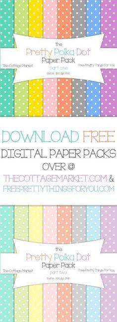 Free Polka Dot Digital Scrapbooking Paper by Miss.Nikki.25