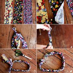 DIY Headband using tights