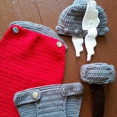 This is a handmade thor inspired newborn set . perfect for photo shoots or even halloween .