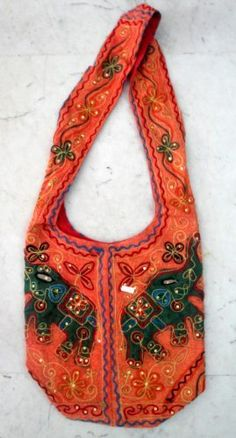 Cotton Canvas Sequin Embroidered Elephant Handcrafted Sitara Work Tote Hippie Indian Sling Cross Body Bag by Krishna Mart India, http://www.amazon.com/dp/B005GTM7W4/ref=cm_sw_r_pi_dp_tJMiqb027ZG4A