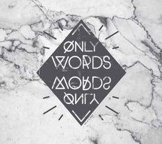 "Ilustración ""Only words"" para RiffofGloria."