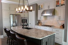 Design Basics Home Plan #50002 the Tucker features an open format kitchen.