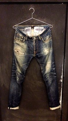 Thin Finn stretch selvage. 3 years old 2 washes. INCREDIBLE DEVOTION! ⓀⒾⓃⒼⓈⓉⓊⒹⒾⓄⓌⓄⓇⓀⓈ▻