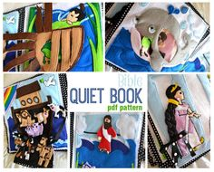 This is SOO CUTE! What a fun DIY to share with the kids. A great quiet book for busy hands and church! Bible Quiet Book PDF Pattern by Sommerfunstuff on Etsy