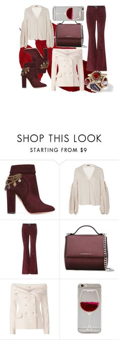 """""""Wine tasting day"""" by mexie ❤ liked on Polyvore featuring Aquazzura, Hellessy, M.i.h Jeans, Givenchy, Faith Connexion, Wet Seal and Chloe + Isabel"""