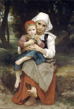 Painting -Mother and Children - William-Adolphe Bouguereau - WikiPaintings.org